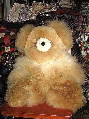 Teddy Bear made of pure Babyalpaca fur, figure toy, 25 inch