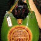 Handmade pure leather handbag from Peru
