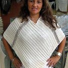 White Poncho from Ñusta ,ecological pima cotton