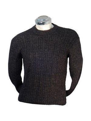 Black cable pattern Sweater, knitted of Alpacawool
