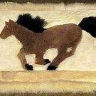 Alpaca fur decor rug, 30.7 x 23.6 Inches