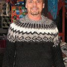 Black Sweater for men,made of pure Alpacawool