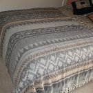 Ethnic designed blanket,coverlet made of alpacawool