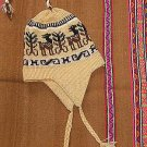 Ethnic peruvian Chullo,Hat with ear flaps, alpacawool