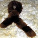 Brown Babyalpaca fur stola, fur scarf,neck scarf