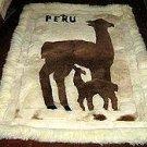 Alpaca motive fur carpet, Alpakita, 80 x 60 cm