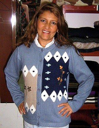 Light blue Cardigan, Jacket made of Babyalpaca wool