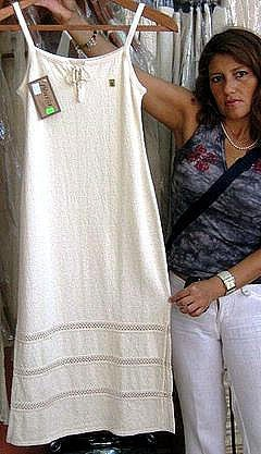 White dress from �usta,ecological pima cotton