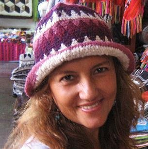 Wool hat from Peru made of alpacawool