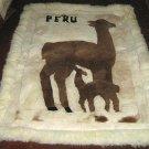 Alpaca motive fur carpet, Alpakita, 150 x 110 cm