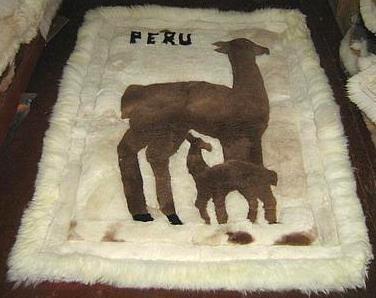 Alpaca motive fur carpet, Alpakita, 300 x 280 cm