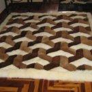 Peruvian Alpaca fur rug with a 3D-Design, 80 x 60 cm