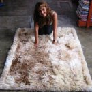 Suri alpaca fur carpet, long-haired fur, 80 x 60 cm