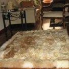 Soft light brown babyalpaca fur rug, 150 x 110 cm