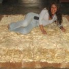 Light brown baby alpaca fur rug from the Andes of Peru, 90 x 60 cm
