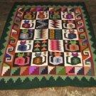 Hand-weaved colorful rug from Peru, Inka Calendarium design