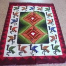 Peruvian colorful hand weaved Rug made of Merino wool, Marriage Design