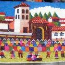 Peruvian motive wall rug , Church of Chincheros