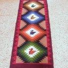 Peruvian hand weaved runner, rug size 4`92 x 1'97 ft
