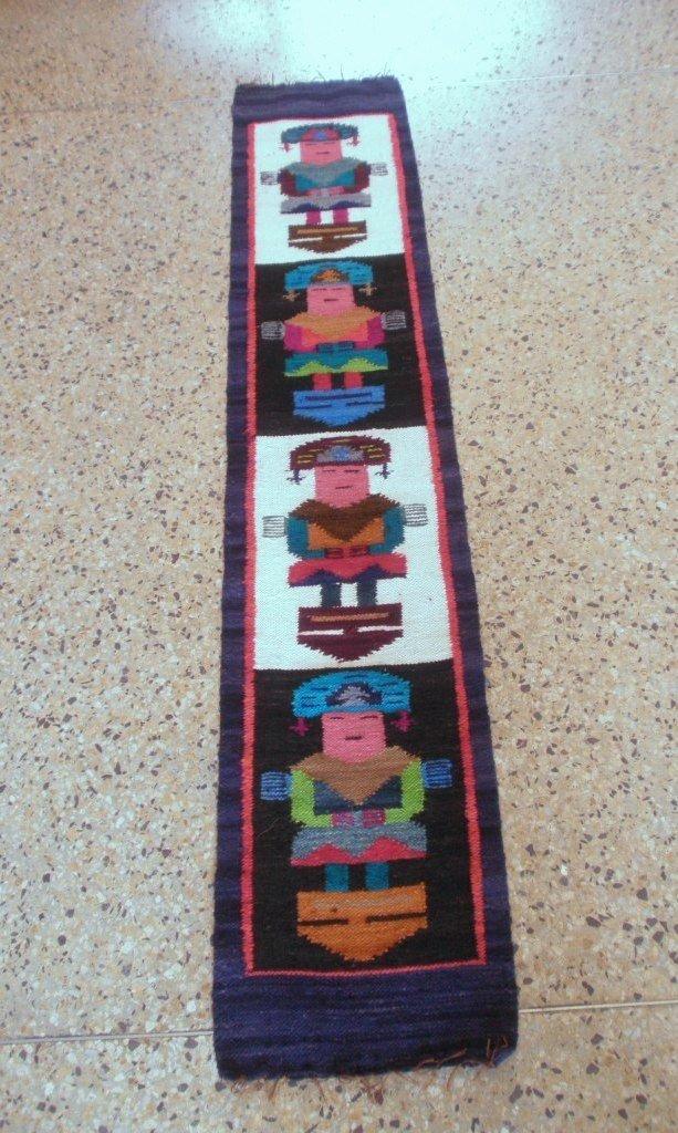 Peruvian hand weaved rug with Tumi Designs