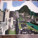 Traditionel peruvian hand weaved rug, Machu Picchu