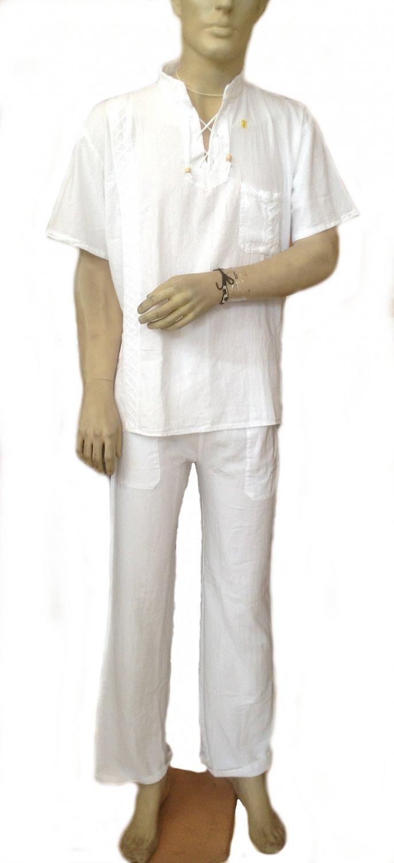 Men Scrub Set Medical Top and Pants 100% Pyma Cotton