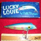 Vintage Lucky Louie Fishing Lure by Bill Minser Tackle Co. Chinook, Wash with Box