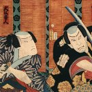 """Two Samurai with Swords""Big Japanese Art Print Samurai"