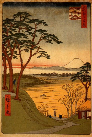 """Old Man's Teahouse BIG"" Japanese Art Print Hiroshige"