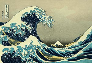 """""""The Great Wave"""" HUGE Japanese Print Art by Hokusai"""