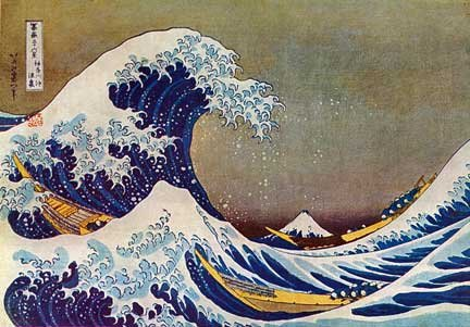 """The Great Wave"" Japanese Art Print by Hokusai"