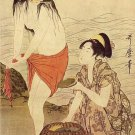 """The Abalone Diver"" Japanese Art Print by Utamaro"