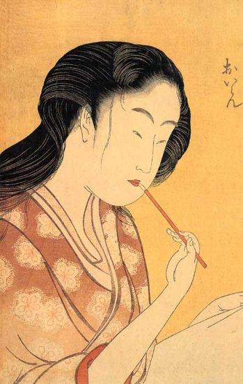 """Geisha's Makeup"" by Utamaro Japanese Art Print Japan"