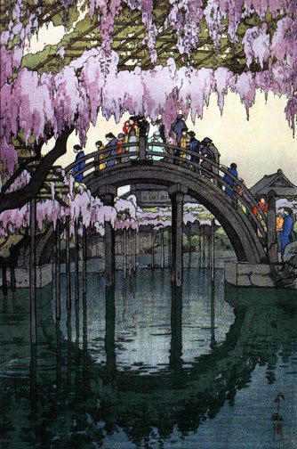 """Kameido Bridge"" Japanese Art Print by Yoshida Japan"