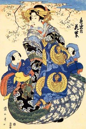 """Mother & Sons"" Japanese Art Print Japan Japanese Eizan"