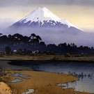 """Mt.Fuji Sunrise"" Japanese Art Print Japan by Yoshida"