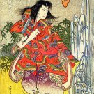 """Samurai and Sword"" Japanese Art Print Japan Yoshikuni"