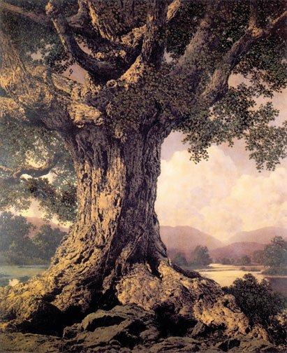 """""""An Ancient Tree"""" BIG Maxfield Parrish Art Deco Print"""