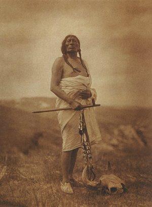 """Sioux Medicine Man"" BIG Edward Curtis Native American"