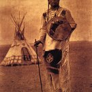 """Whistle Smoke"" BIG Edward S.Curtis Native American Art"