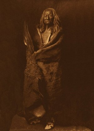 "Edward S. Curtis ""Black Eagle"" BIG Native American Art"