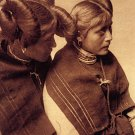 """Two Hopi Girls"" Edward S.Curtis Native American Art"