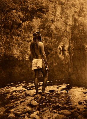 """""""The Apache"""" Edward S.Curtis Native American Indian Art"""