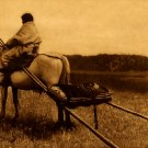 """Travelling-Atsina"" Edward S.Curtis Native American Art"