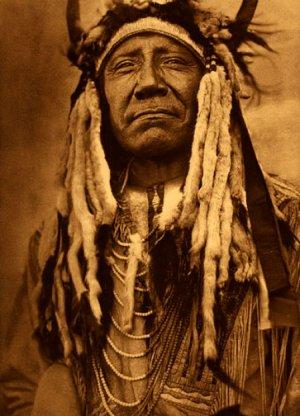 """Two Moons Cheyenne"" Edward Curtis Native American Art"