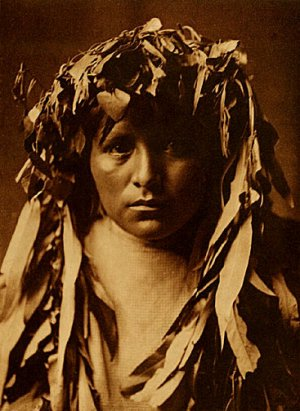 """""""Apache Maiden"""" Edward S.Curtis Native American Indian"""