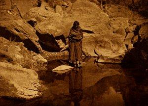 """Nature's Mirror-Navaho"" Edward S.Curtis Photo Print"