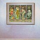"""Times of the Day"" BIG Art Print by Alphonse Mucha"