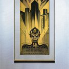 """Metropolis""HUGE Beautiful Art Deco Movie Poster Print"