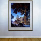 """Little Stone House""BIG Maxfield Parrish Art Deco Print"